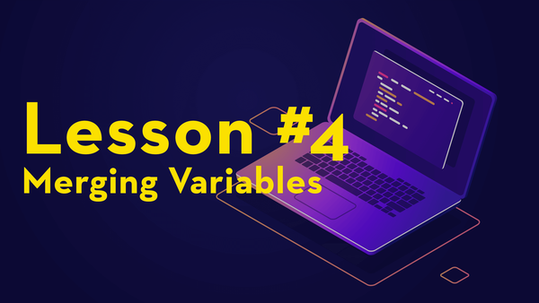 #4. Merging Variables video image
